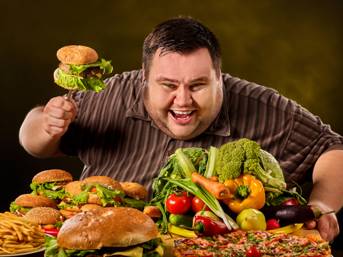 Man With A lot Of Food
