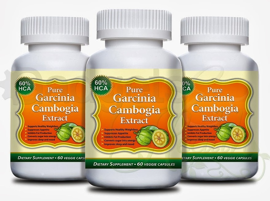 garcinia cambogia extract in a labeled bottle.